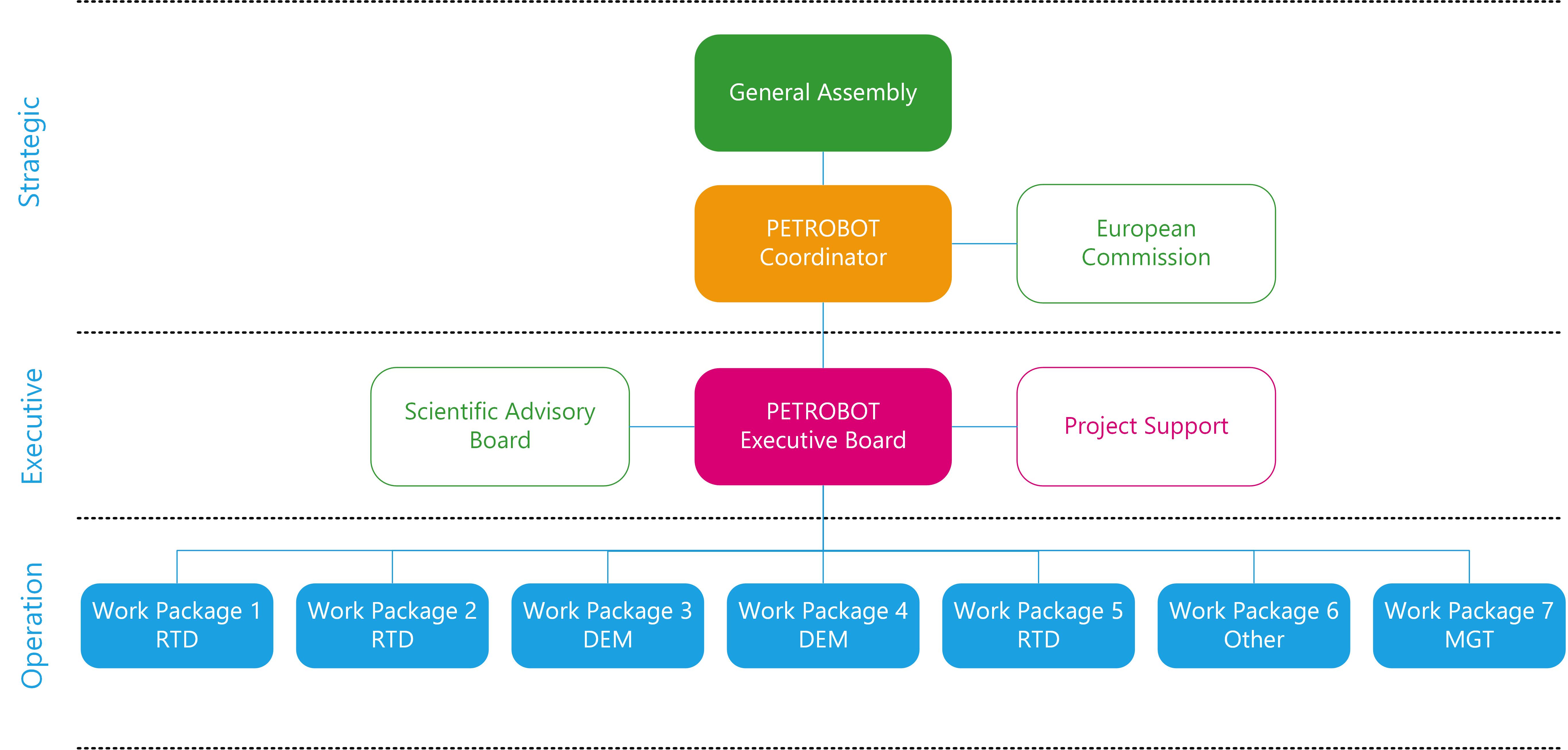 PETROBOT Management Structure - Petrobot Project